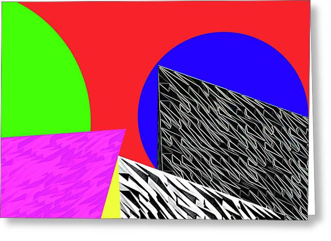 Geo Shapes 2 Greeting Card by Bruce Iorio