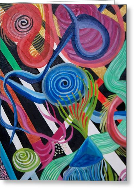 Geoabstract Greeting Card by Kathern Welsh
