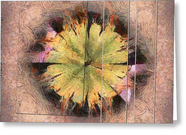 Geochronology Substance Flower  Id 16164-024926-69881 Greeting Card by S Lurk