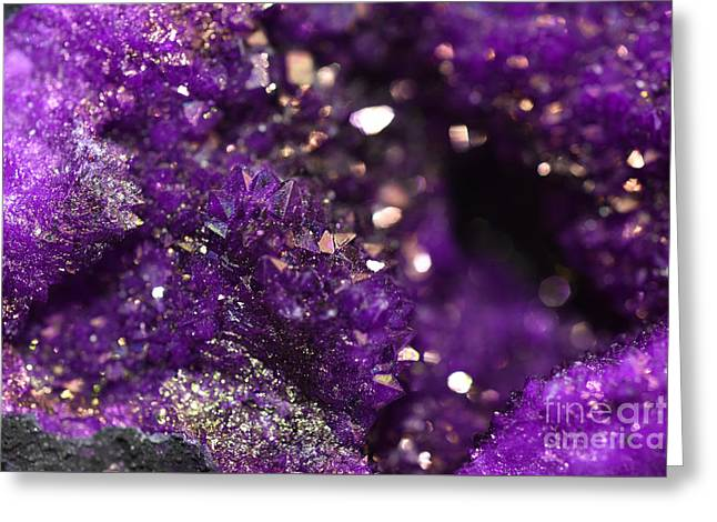 Geode Abstract Amethyst Greeting Card