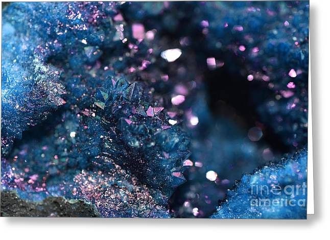 Geode Abstract Teal Greeting Card