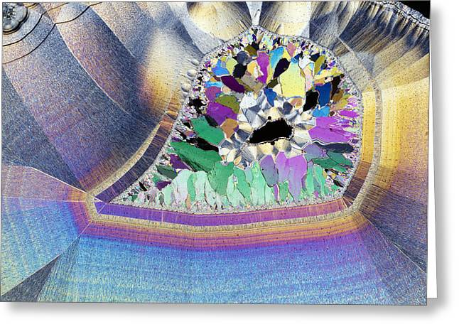 Geode In Thin Section Greeting Card by Dirk Wiersma