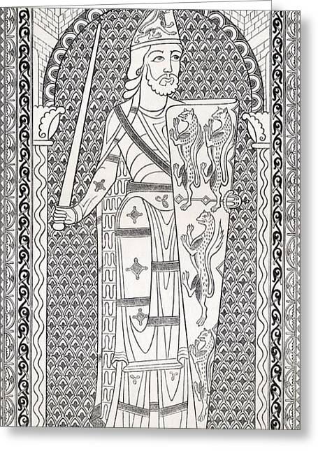 Geoffrey V, First Of The Plantagenets Greeting Card by Vintage Design Pics