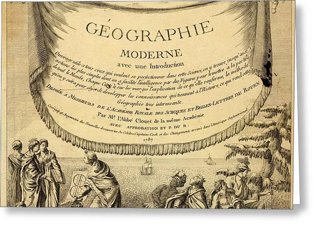 Geographie Moderne Avec Une Introduction 1787 Greeting Card