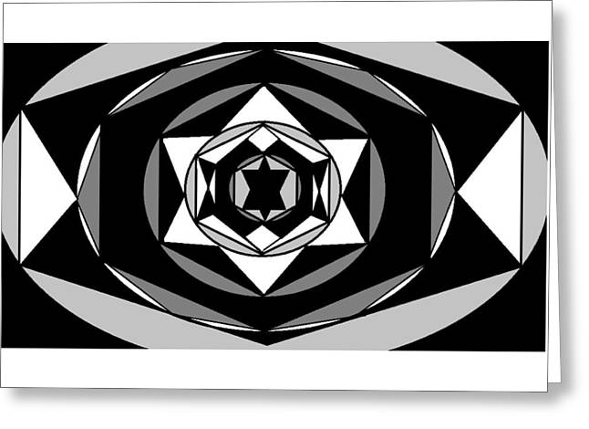 'geometric 1' Greeting Card