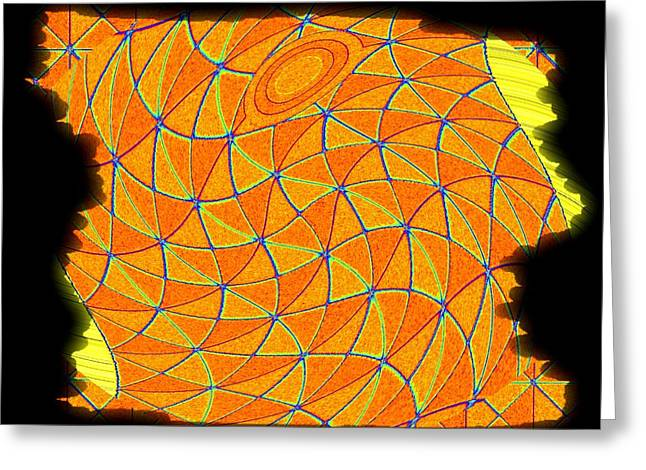 Geometric Abstract 1 Greeting Card by Will Borden