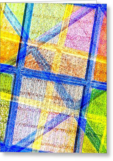 Geometric And Colorful  Greeting Card