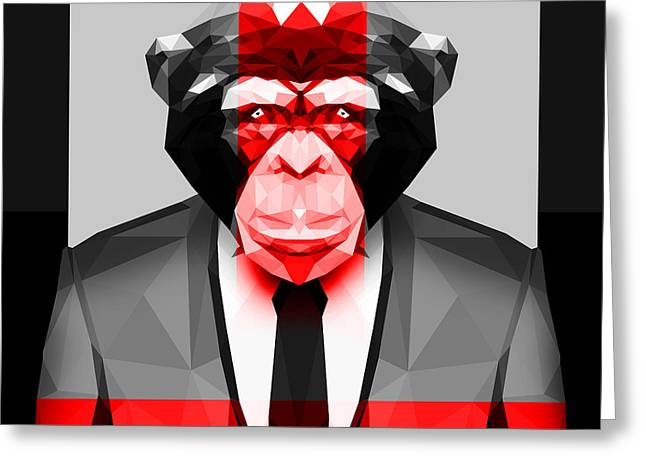 Geometric Ape Greeting Card by Gallini Design