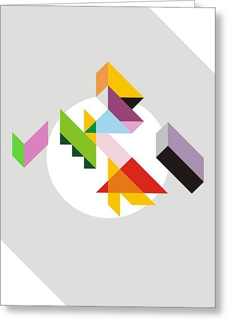 Geometric Greeting Card by Blackzneo