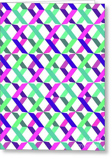Geometric Crosses Greeting Card by Louisa Knight