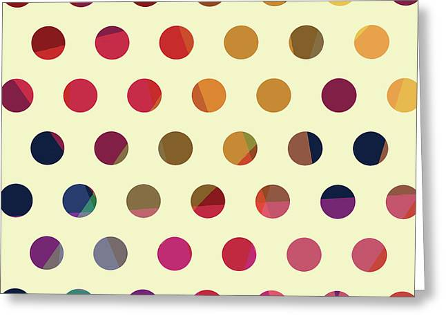 Geometric Dots Greeting Card