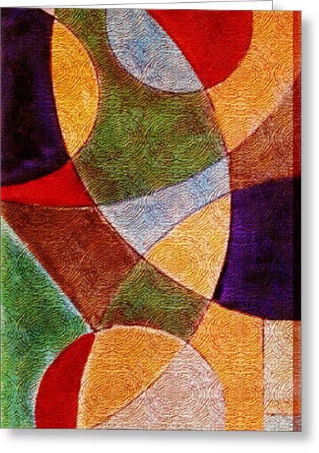 Geometric Greeting Card by Florentina Maria Popescu