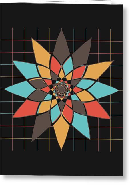 Geometric Flower Greeting Card