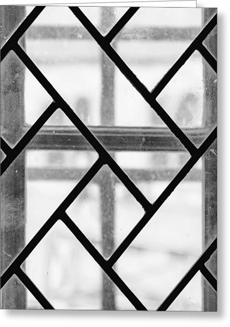 Greeting Card featuring the photograph Geometric Glasswork by Christi Kraft