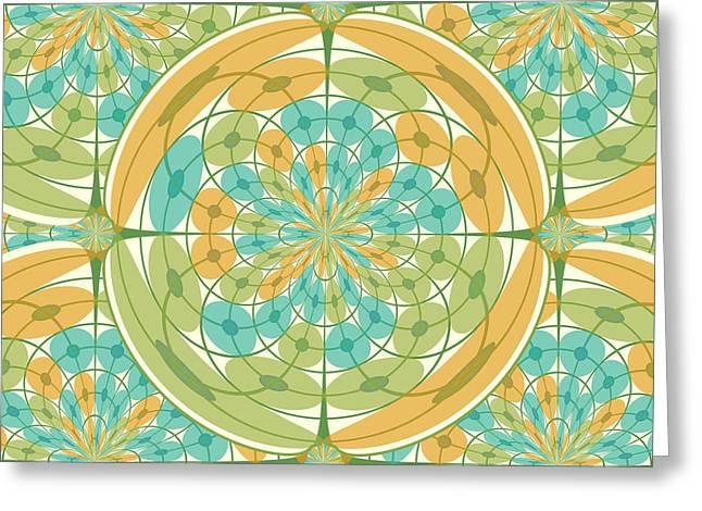 Geometric Harmony Greeting Card by Gaspar Avila