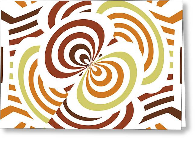 Geometric Infinity Greeting Card by Gaspar Avila