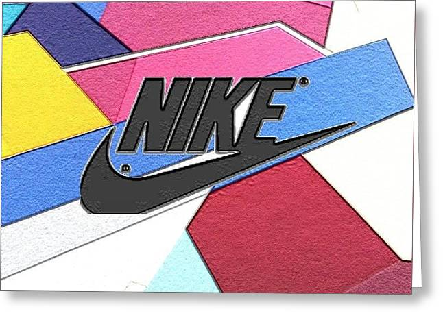 Geometric Nike Cover Greeting Card by Dekai Youmans