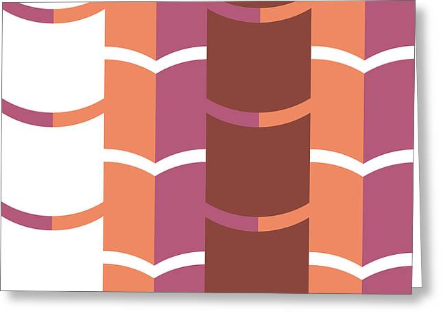 Geometric Pattern Greeting Card by HD Connelly
