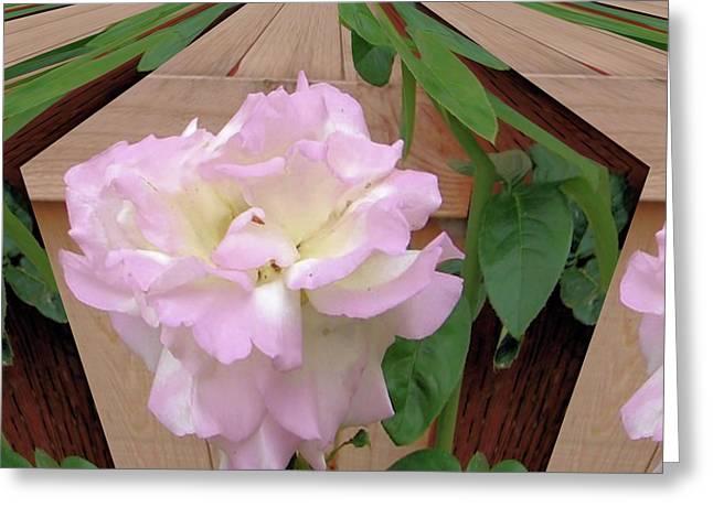 Geometric Rose Greeting Card
