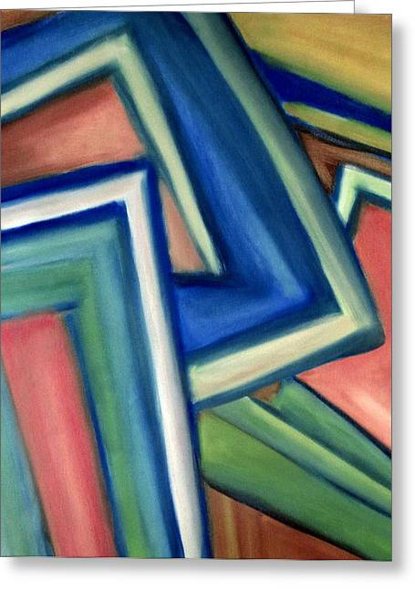 Geometric Tension Series Iv Greeting Card by Patricia Cleasby