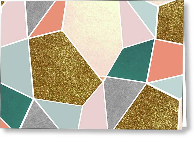 Geometric Greeting Card by Uma Gokhale