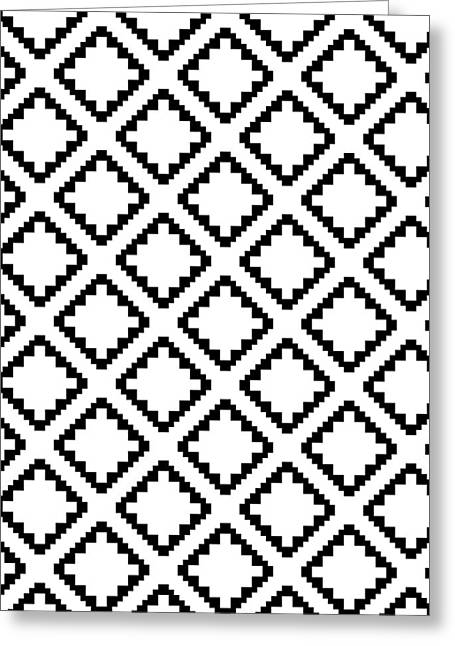 Geometricsquaresdiamondpattern Greeting Card by Rachel Follett