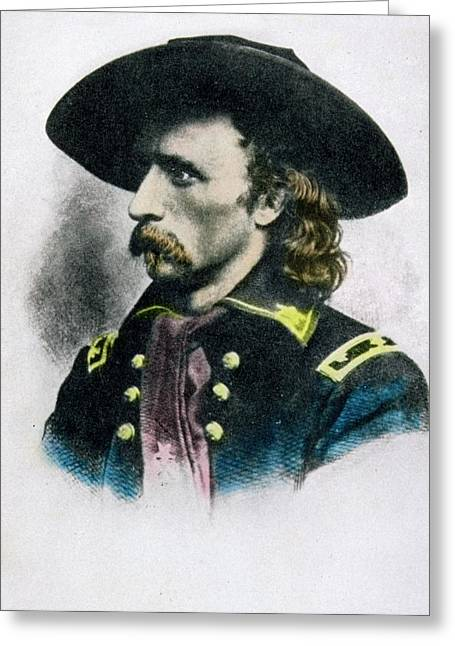 George Armstrong Custer 1839 To 1876 Greeting Card by Vintage Design Pics