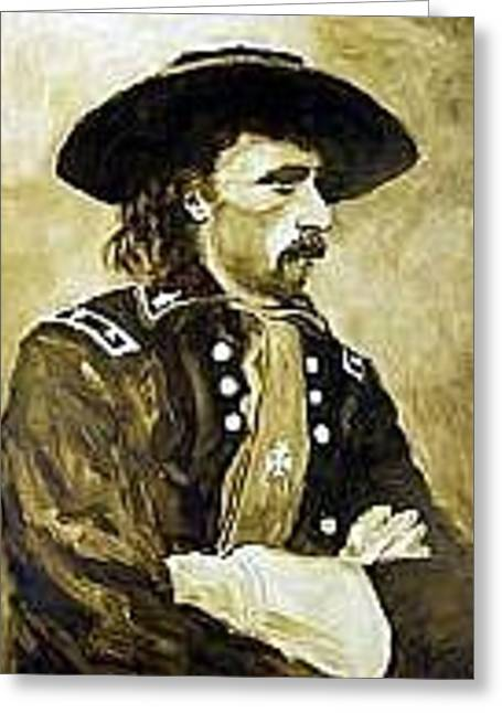 George Armstrong Custer Greeting Card by Kevin Heaney