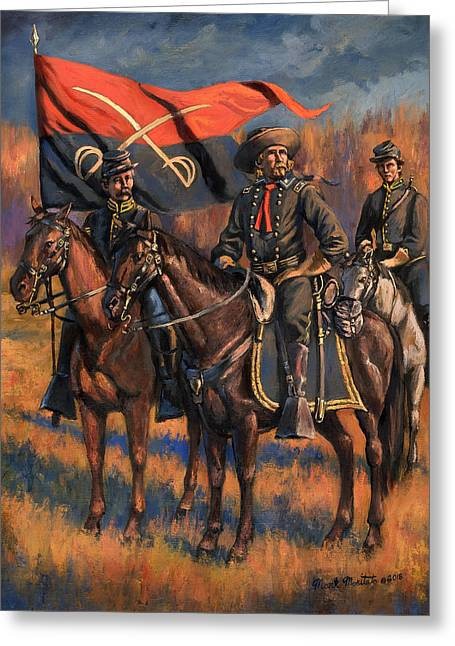 George Armstrong Custer Greeting Card by Mark Maritato