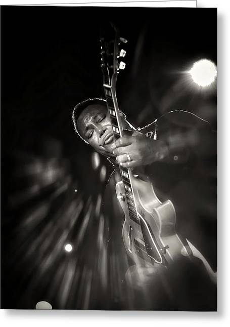 George Benson Black And White Greeting Card