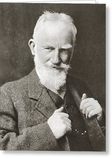 George Bernard Shaw, 1856 Greeting Card by Vintage Design Pics