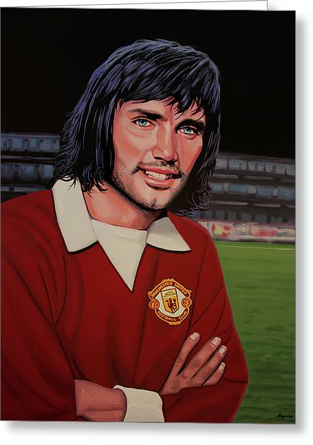 George Best Painting Greeting Card