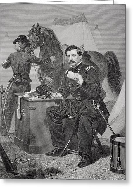 George Brinton Mcclellan 1826 - 1885 Greeting Card