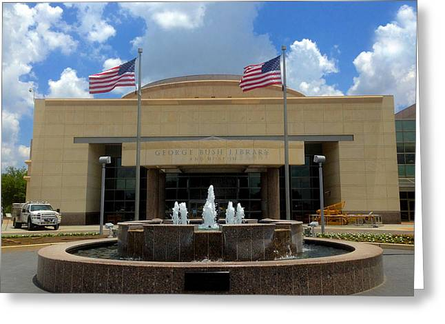 George Bush Library And Museum Greeting Card by Art Spectrum