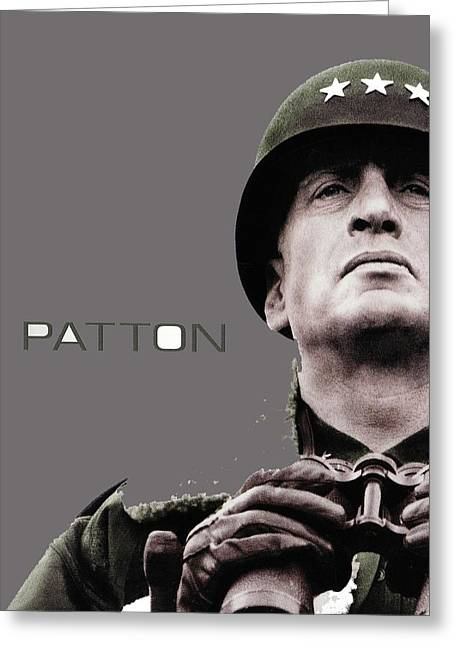 George C. Scott As General Patton Poster For  Patton 1970 Color Added 2016 Greeting Card