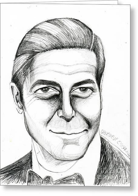 George Clooney Greeting Card