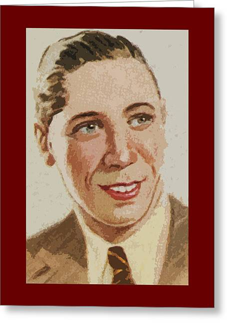 George Formby Greeting Card by James Hill