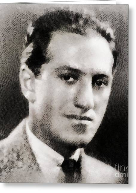 George Gershwin, Composer Greeting Card by John Springfield
