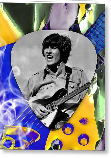 George Harrison Beatles Art Greeting Card