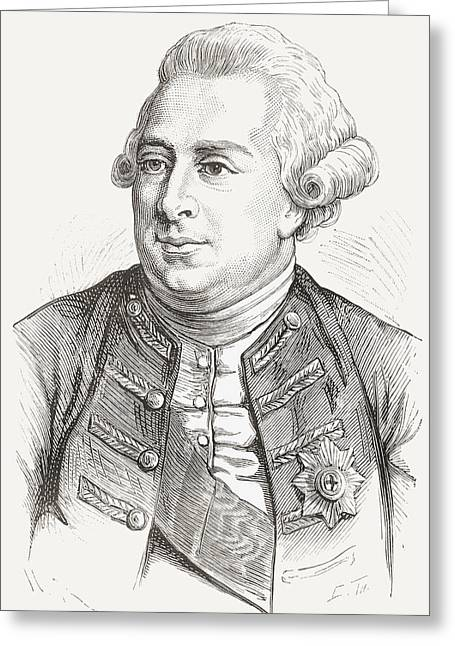 British Royalty Greeting Cards - George Iii, 1738 - 1820. King Of The Greeting Card by Vintage Design Pics