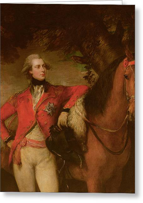 George Iv As Prince Of Wales Greeting Card by Thomas Gainsborough