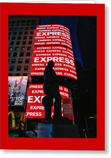 George M. Cohan Statue # 3 Greeting Card
