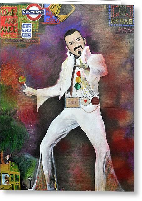 George Michael Gentlemen And Ladies Greeting Card