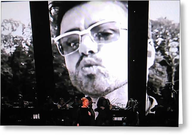 George Michael Sends A Kiss Greeting Card by Toni Hopper