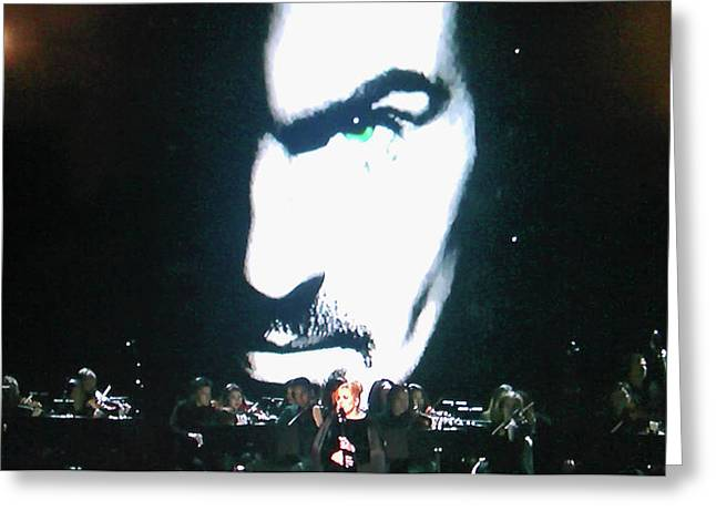 George Michael's Eye Appeal Greeting Card by Toni Hopper