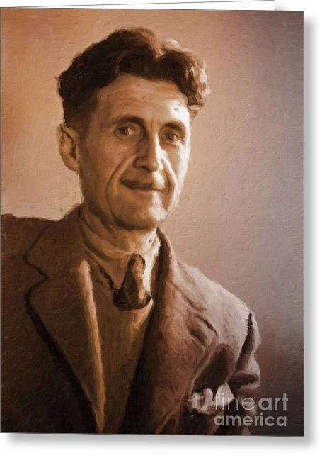 George Orwell, Literary Legend By Mary Bassett Greeting Card
