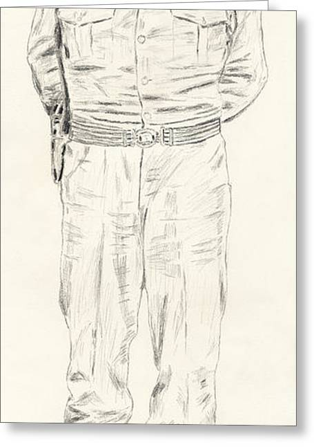 George S. Patton Greeting Card by Dennis Larson