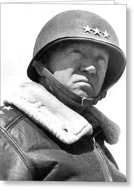 George S. Patton Unknown Date Greeting Card by David Lee Guss
