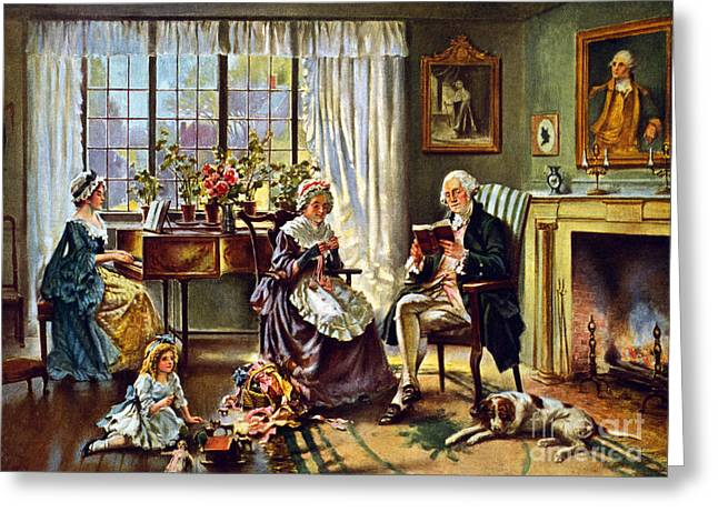 George Washington And Family Greeting Card by Science Source