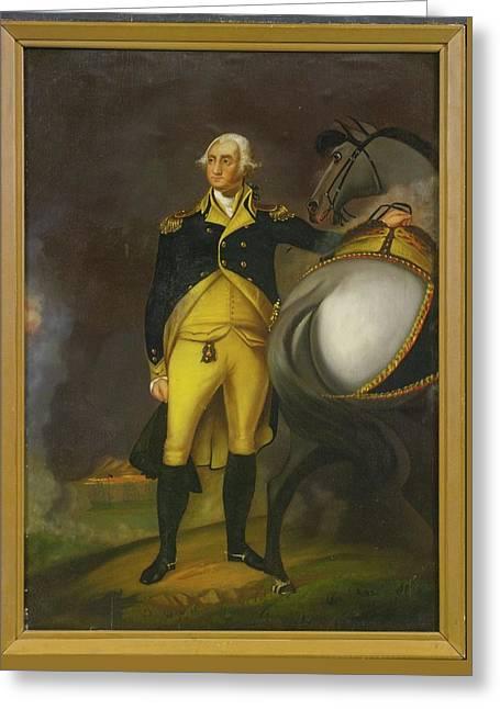 George Washington And His Horse Greeting Card